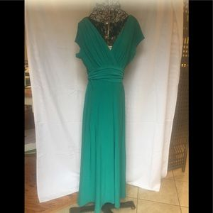 Emerald green maxi dress by Coldwater Creek NWT 12